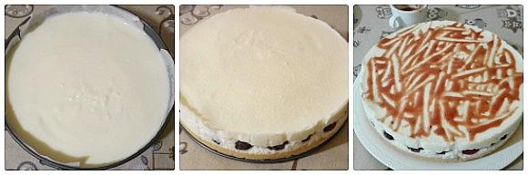 torta fredda alla ricotta e ciliegie