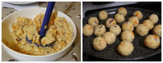 polpette di soia e verdure al forno