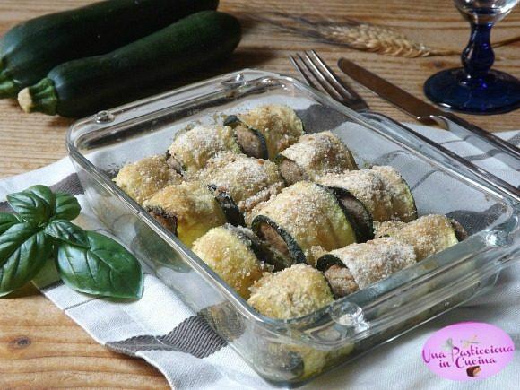 Involtini di Zucchine al Pesto