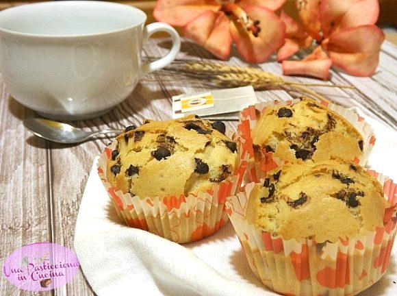 Muffin con Gocce di Cioccolato senza Burro, Latte e Uova