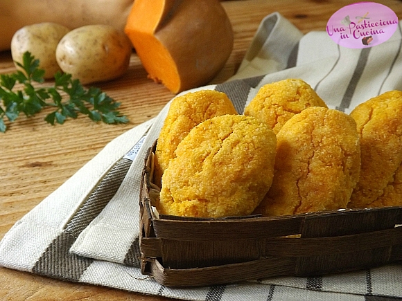 polpette di zucca e patate al forno
