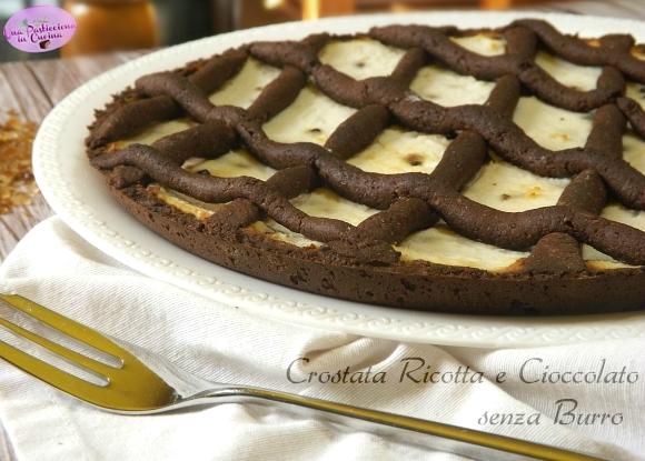 Crostata Ricotta e Cioccolato senza Burro e Glutine