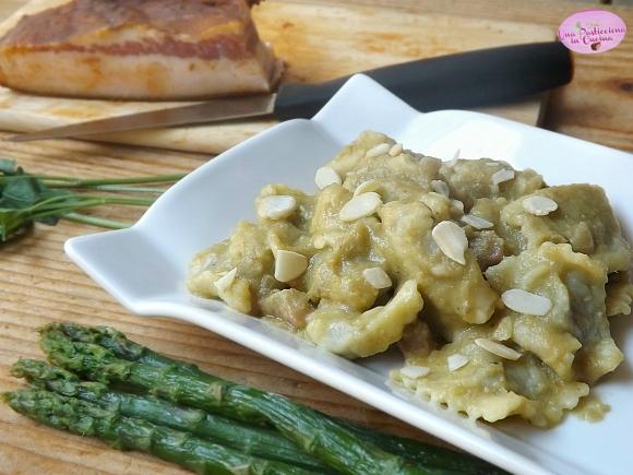 Pasta Ripiena con Asparagi e Pancetta
