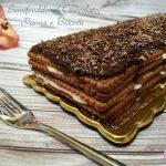 semifreddo al cioccolato panna e biscotti