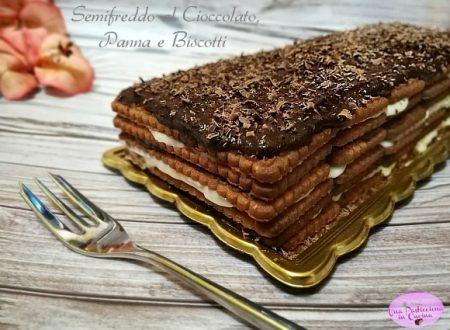 Semifreddo al Cioccolato, Panna e Biscotti