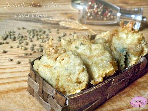 frittelle di zucchine veloci e senza uova