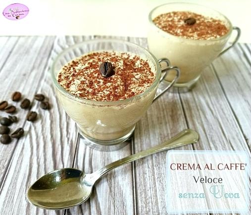 crema al caffè senza uova veloce