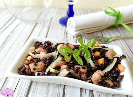 Insalata di Riso Venere con Gamberetti e Verdure