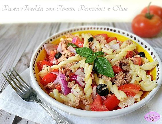 Pasta Fredda con Tonno, Pomodori e Olive