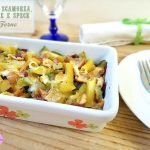 pasta scamorza zucchine e speck al forno
