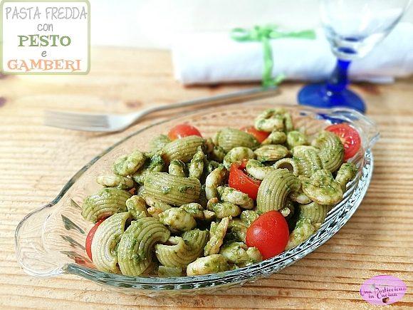 Pasta Fredda con Pesto e Gamberi