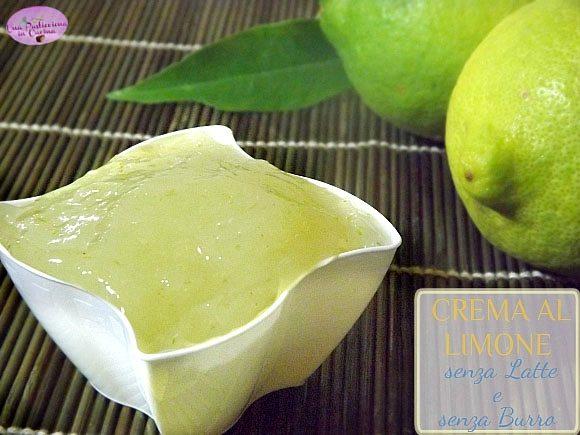 Crema al Limone senza Latte e senza Burro