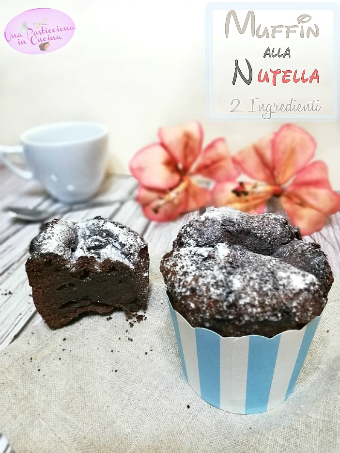 Muffin alla Nutella con 2 ingredienti