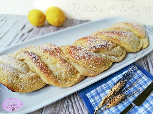 Treccia al Limone Sofficissima - Ricetta Pan Brioche dolce