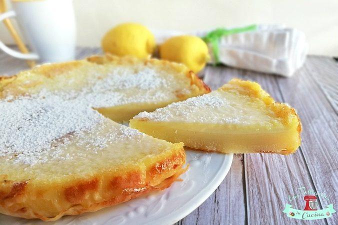 Torta Cremosa al Limone senza Farina e Burro