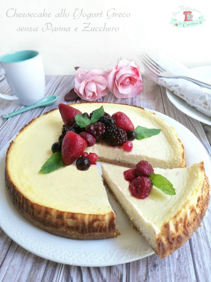 cheesecake allo yogurt greco senza panna e zucchero