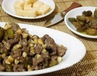 Straccetti di Vitello con Parmigiano e Olive