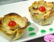 Cestini con Zucchine Ricotta e Prosciutto Ricetta
