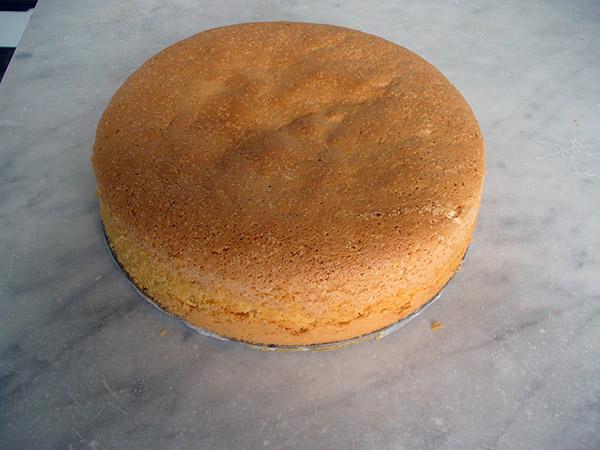 Pan di Spagna  tradizionale. Ricetta base