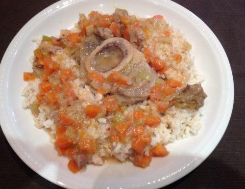 Osso buco con corona di riso