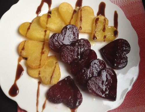 Cuoricini di patate e rape rosse