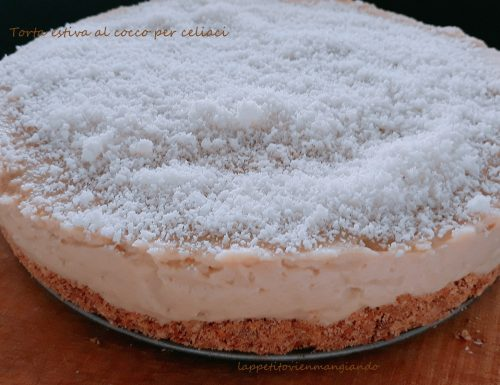 Torta estiva al cocco per celiaci