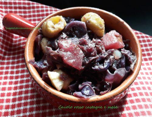 Cavolo rosso castagne e mele