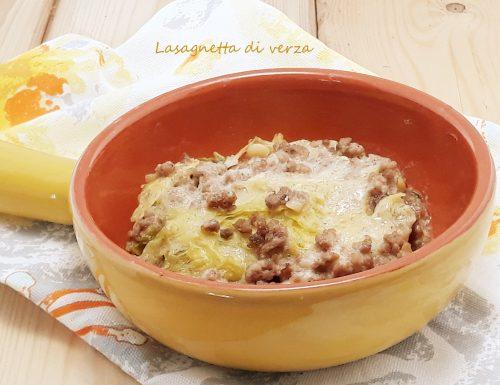Lasagnetta di verza al ragù bianco