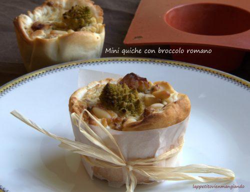 Mini quiche con broccolo romano