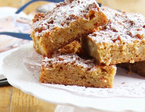 Brownies di pane e cioccolato bianco