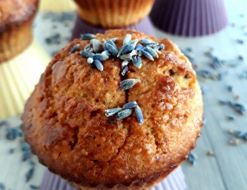 Muffin ricotta nocciole e lavanda