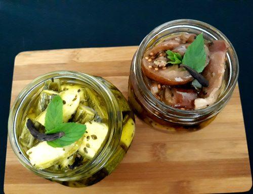 Conserva di zucchine e melanzane sott'olio