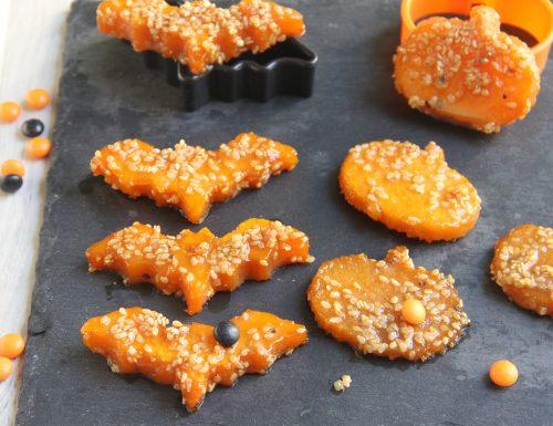 Pipistrelli e zucchette di zucca al miele