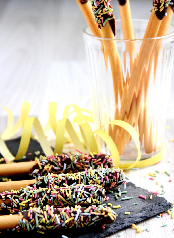 Grissini al cioccolato e zuccherini