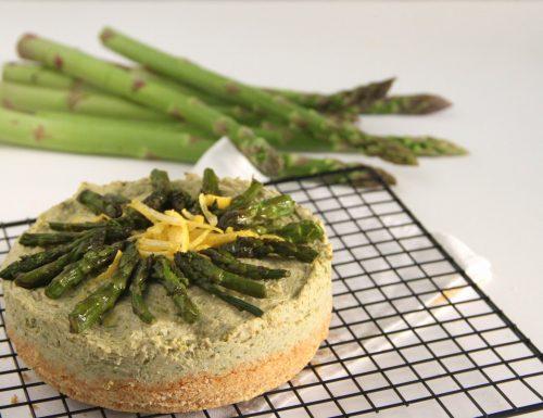 Cheesecake  asparagi ricotta e robiola
