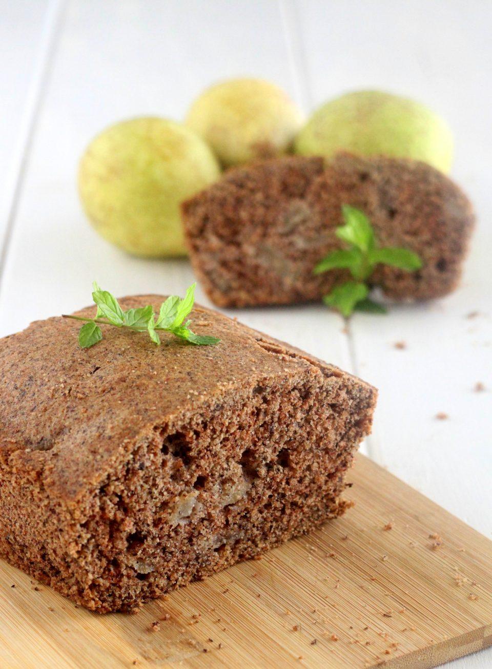 Plumecake grano saraceno mele e cioccolato