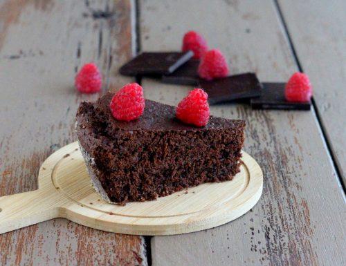 Torta di grano saraceno al cioccolato fondente
