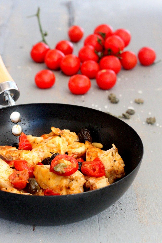 Scaloppine di pollo alla mediterranea