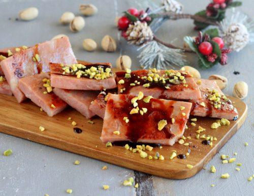 Mortadella grigliata aceto e pistacchi
