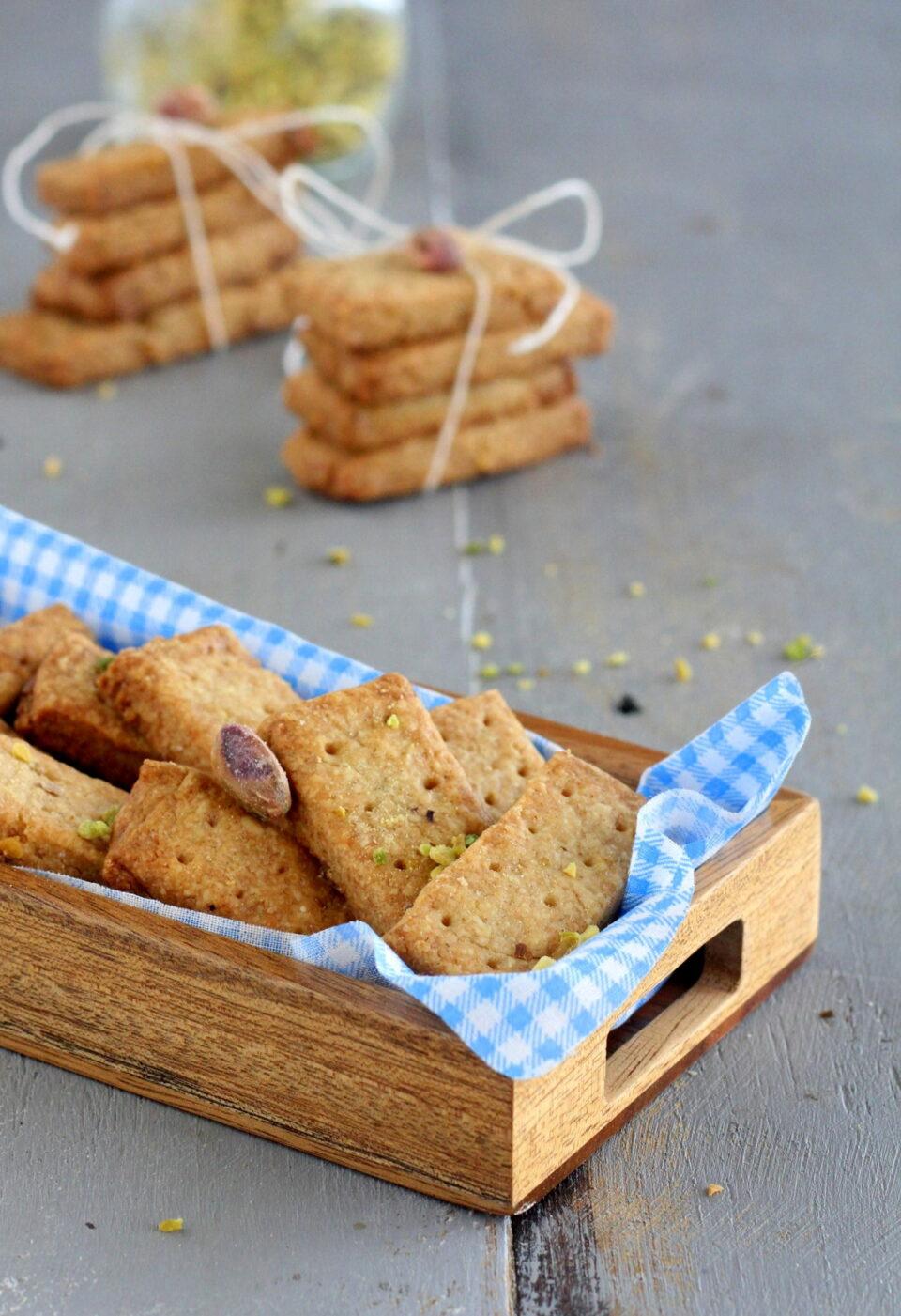 Shortbread con granella di pistacchi