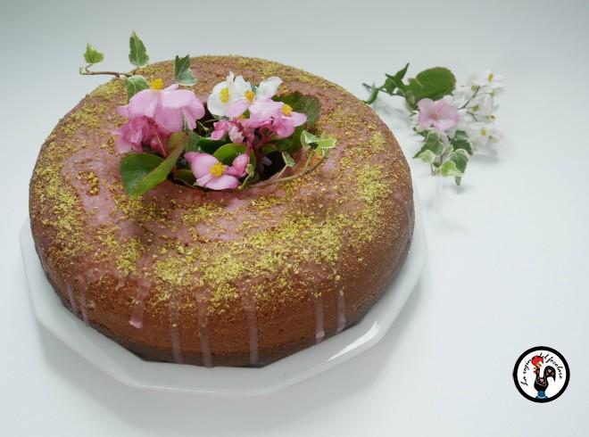 Torta marmorizzata barbabietola e pistacchio