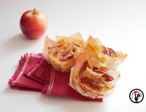 Cestini golosi con mele e speck – Ricetta salata con le mele