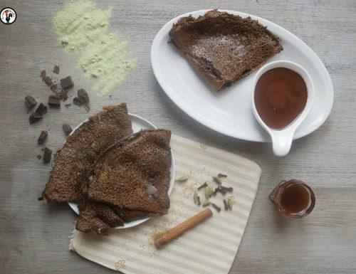 Crêpes di piselli e cioccolato al rum