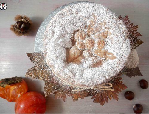 Crostata di cachi e marrons glacés –Dolce con farina di castagne