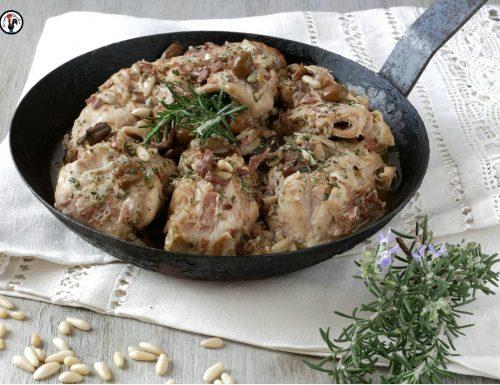 Coniglio alla ligure – Ricetta con pinoli e olive taggiasche