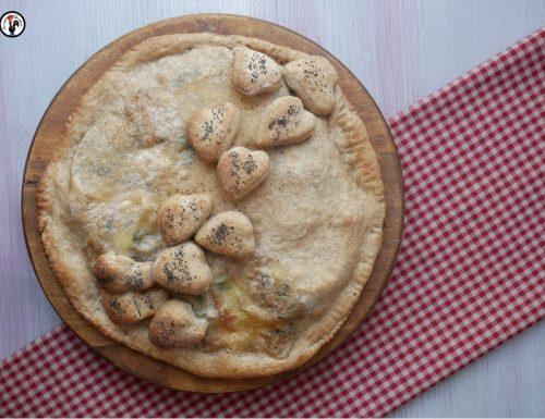 Pizza rustica cime di rapa, salsiccia e provola