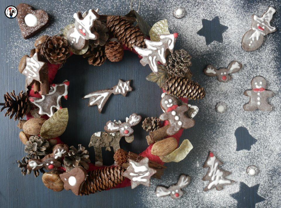 Biscotti di Natale cioccolato e menta