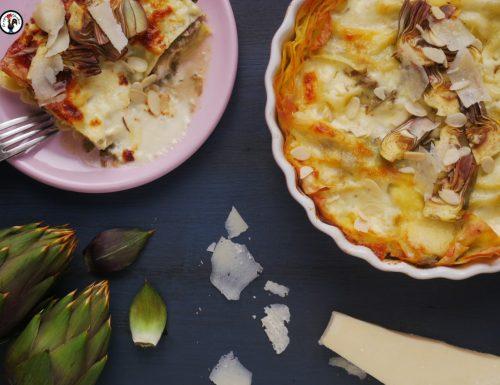 Lasagne vegetariane veloci – Con carciofi e stracchino