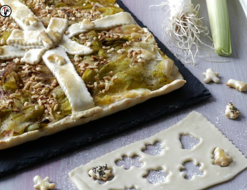Torta salata porro e fontina – Crostata di Natale