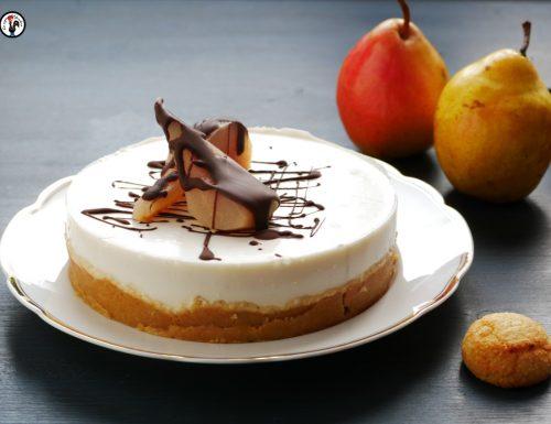 Cheesecake amaretti e pere – Senza cottura e senza panna